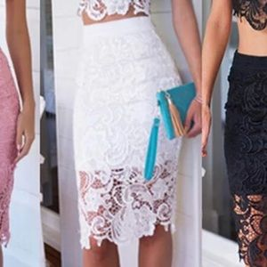 Party lace skirt